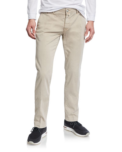 Men's Bobby Stretch Cotton Pants, Taupe