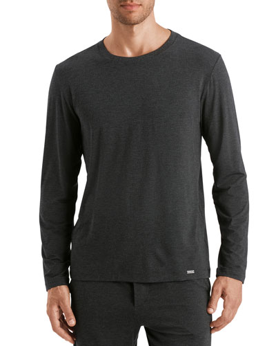 Men's Casual Long-Sleeve Crew T-Shirt