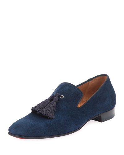 Men's Velour Suede Tassel Loafers