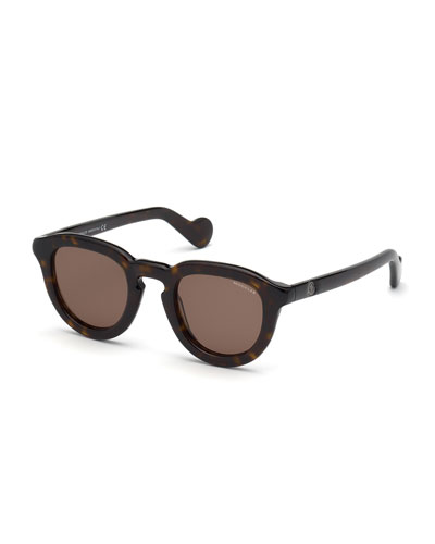 Moncler Men's Round Acetate Universal Fit Sunglasses