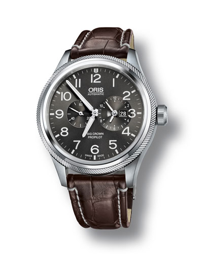 Men's 44.7mm Big Crown Propilot Worldtimer Watch, Gray/Brown