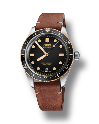 Oris Men's 40mm Diver Bracelet Watch w/ Bronze,