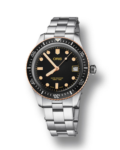 Men's 36mm Diver Bracelet Watch w/ Bronze, Black