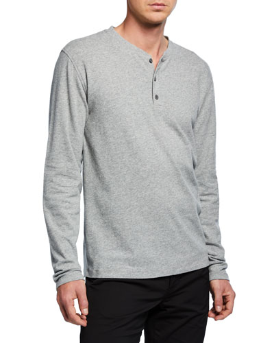 Men's Long-Sleeve Henley T-Shirt