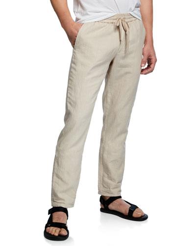Men's Hemp Straight-Leg Pull-On Pants