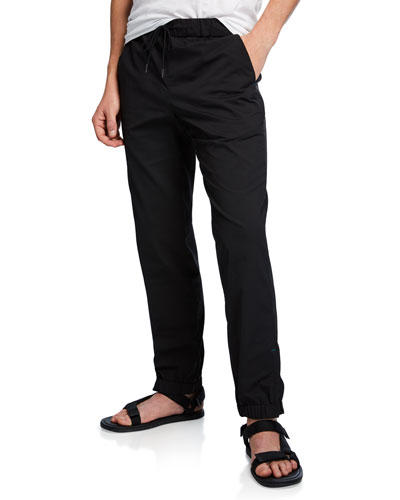 Men's Solid-Weave Track Pants