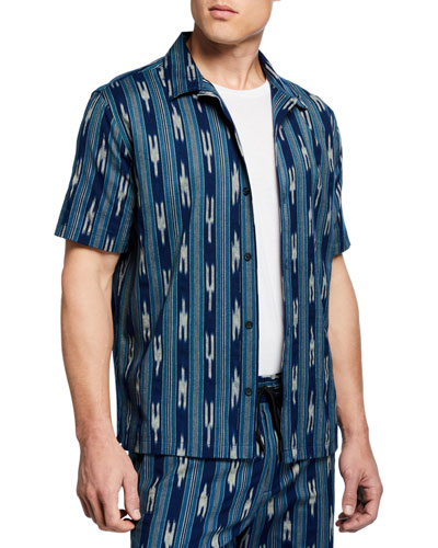 Men's Ikat-Pattern Cabana Shirt