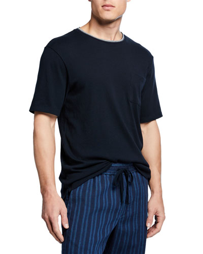 Men's Tipped Crewneck Pocket T-Shirt
