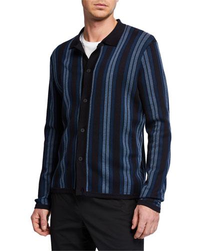 Men's Striped Sweater Shirt