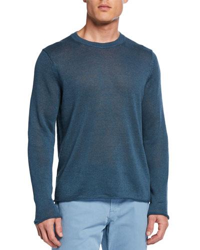 Men's Crewneck Linen Sweater