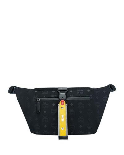 Men's Resnick Large Monogrammed-Nylon Belt Bag