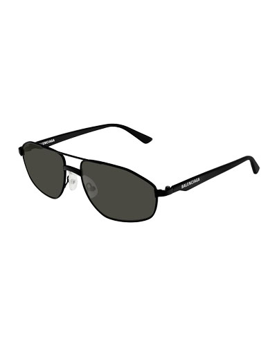 Men's Narrow Metal Frame Sunglasses