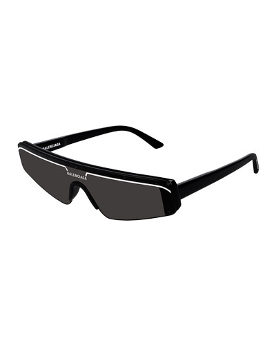 Men's Ski-Style Acetate Sunglasses