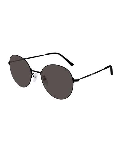 Men's Unisex Metal Round Sunglasses