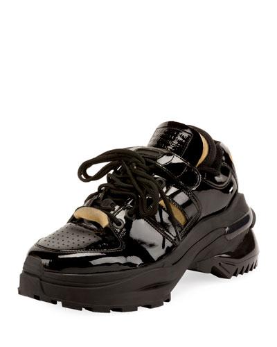 Men's Retrofit Leather Trainer Sneakers
