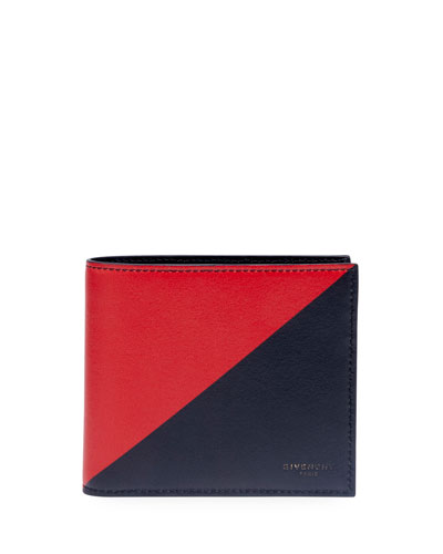 Men's Triangle-Print Bifold Wallet