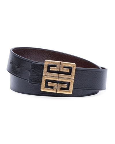 Men's 4-G Buckle Reversible Leather Belt
