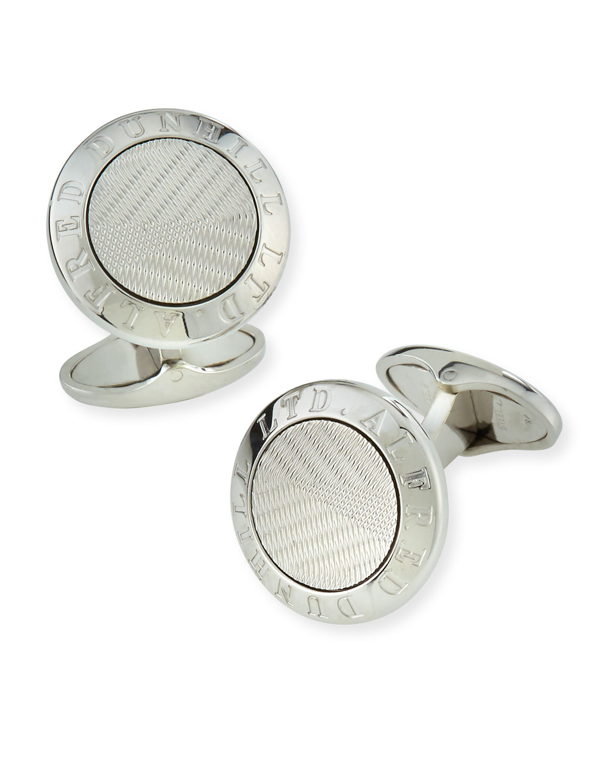 Dunhill Accessories MEN'S AD COIN SILVER CUFFLINKS