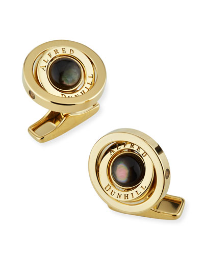 dunhill Gyro Cufflinks with Black Mother of Pearl