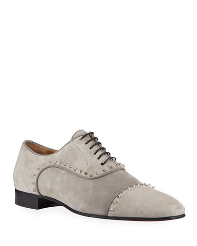 Men's Eton Spiked Suede Oxford Shoes