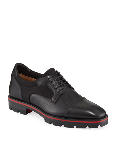 Men's Mika Sky Spiked Leather Lace-Up Shoes