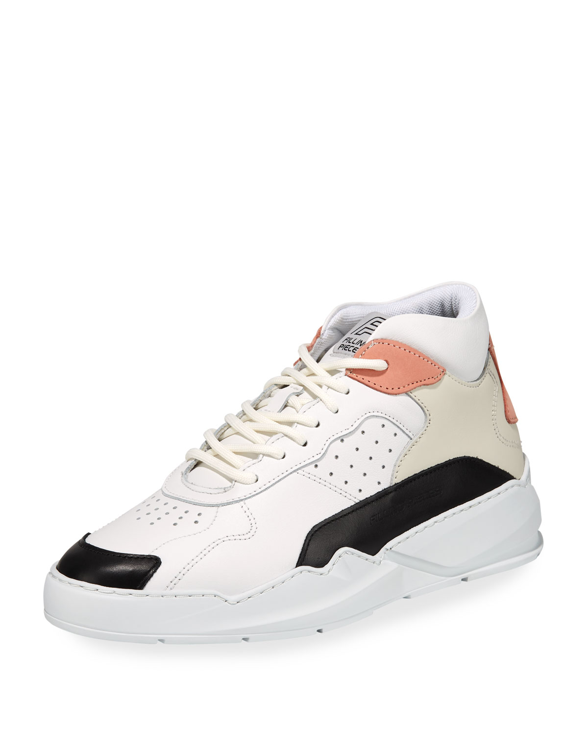 Filling Pieces Sneakers MEN'S FLOW MID-TOP LEATHER SNEAKERS