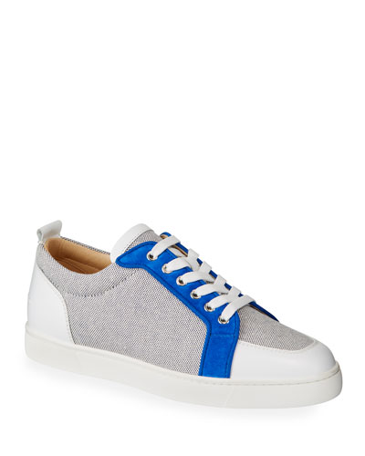 Men's Rantu Colorblock Leather Low-Top Sneakers
