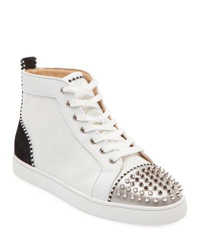 Men's Lou Spikes Mid-Top Sneakers