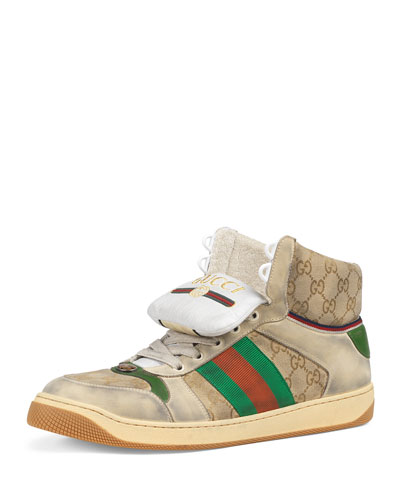 8c6b420db12 Men s Screener High-Top GG Canvas Sneakers Quick Look. Gucci