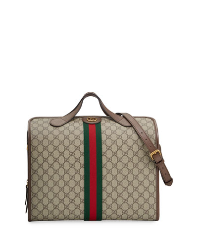 b3c4b465b18 Men s GG Supreme Bowler Bag Quick Look. Gucci