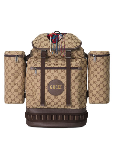 Men's GG Canvas Flap-Top Backpack