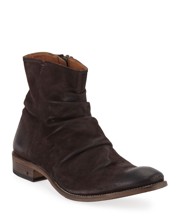 John Varvatos Boots MEN'S MORRISON SHARPEI SUEDE BOOTS