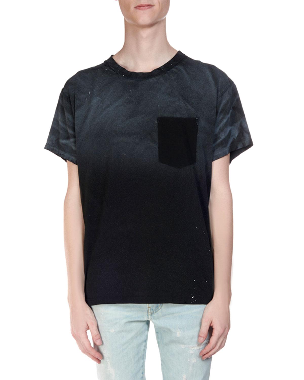 Amiri T-shirts MEN'S OMBRE PLAID FLANNEL LONG-SLEEVE SHIRT