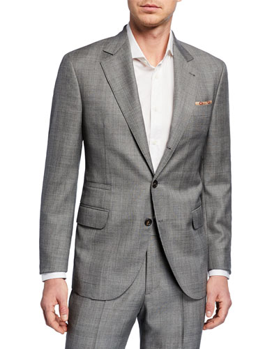 Men's Tonal Plaid Super 110s Wool Two-Piece Suit