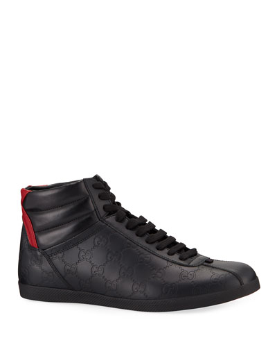 Men's Bambi GG-Embossed Leather High-Top Sneakers