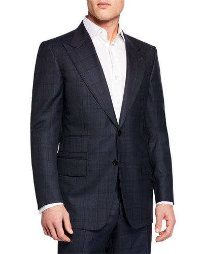 Men's Two-Piece Windsor Windowpane Suit