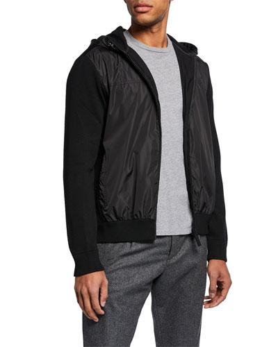 Men's WindBridge Wool & Nylon Hoodie Jacket