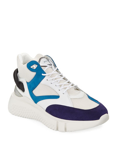 Men's Veloce Mid-Top Leather Sneakers