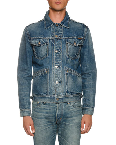 4e2b7f6c6d5b Men s Four-Pocket Denim Jacket