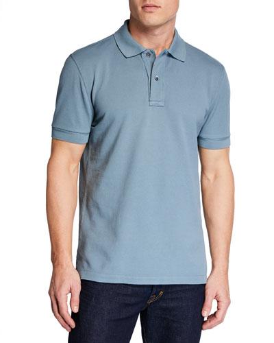 Men's 2-Button Pique Polo Shirt