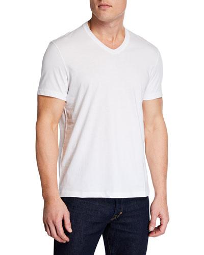 Men's Short-Sleeve V-Neck T-Shirt, White