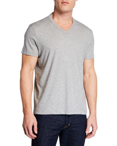 Men's Short-Sleeve V-Neck T-Shirt, Gray