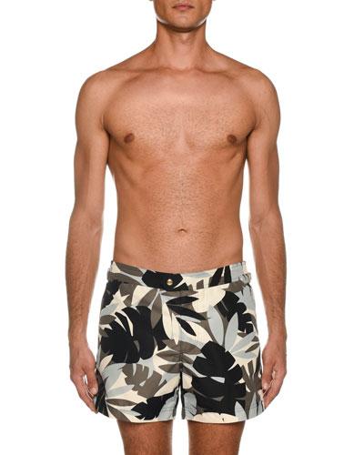 Men's Tropical Graphic Swim Trunks
