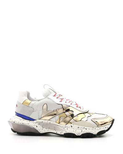 Men's Bounce Camo Metallic Lace-Up Sneakers
