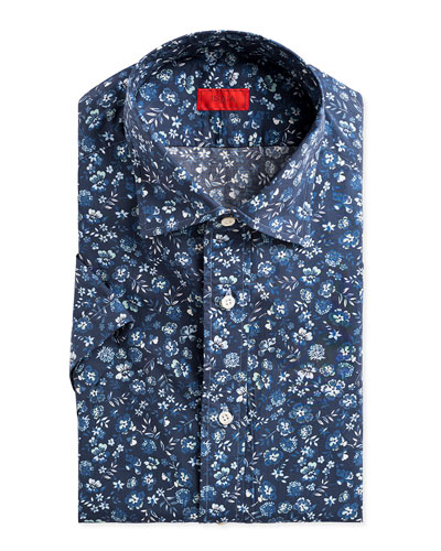 Men's Short-Sleeve Floral Sport Shirt