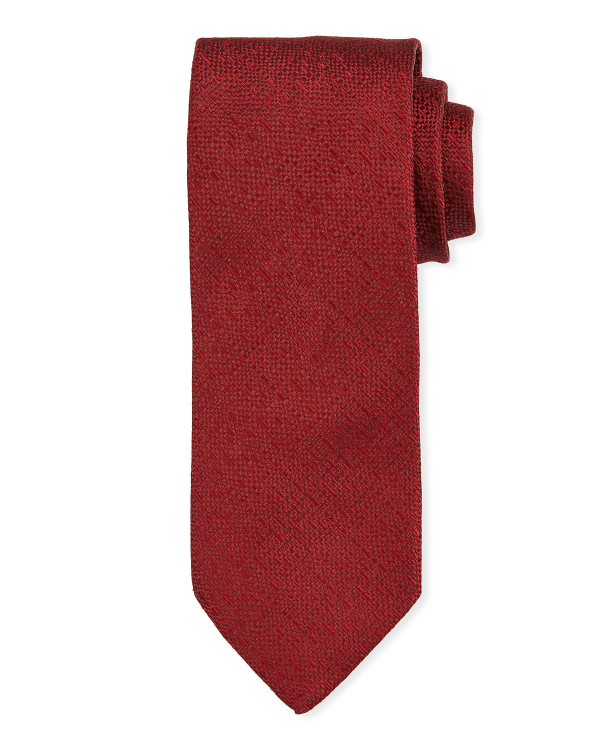 Bigi Ties SOLID SILK TIE, RED