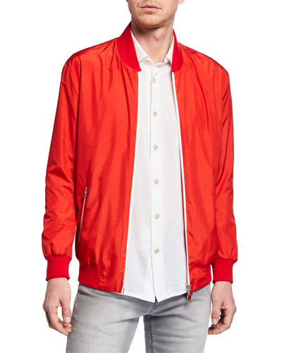 Men's Satin Bomber Jacket