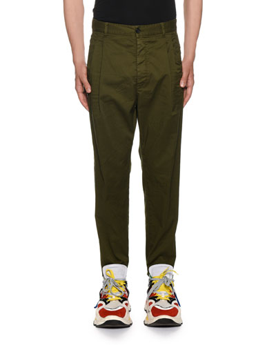 Men's Pleated-Front Chino Pants