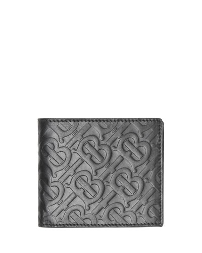 Men's Monogram-Embossed Bifold Leather Wallet