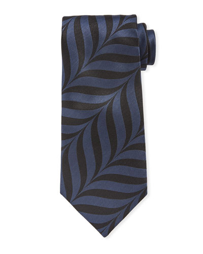 TOM FORD Abstract-Print 9cm Tie, Blue